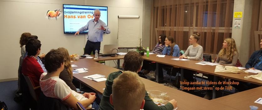 Geslaagde workshop Omgaan met stress voor studenten