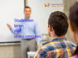 Studenten leren met stress omgaan