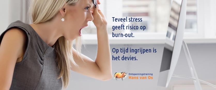 Teveel stress geeft risico op burn-out