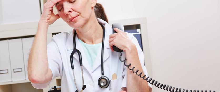 Werkdruk artsen wordt als hoog ervaren.